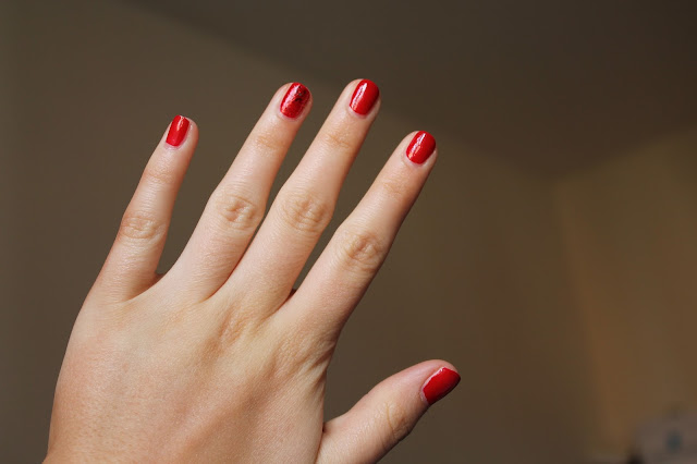Red-nails-opi-gettin-piggy-with-it-barry-m-gelly-nail-polish-varnish-swatch