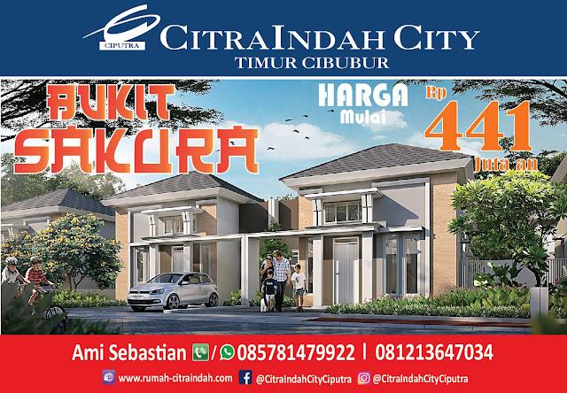Cluster Bukit SAKURA (Real Estate)  Citra Indah City mulai dipasarkan - Harga Mulai 441 Jtan