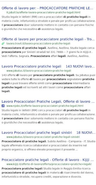 Procacciatore Segnalatore Pratiche Legali Per Avvocato