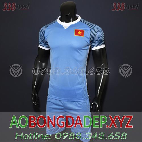 Áo U23 Việt Nam 2019 Training Màu Xanh Nhạt Đẹp