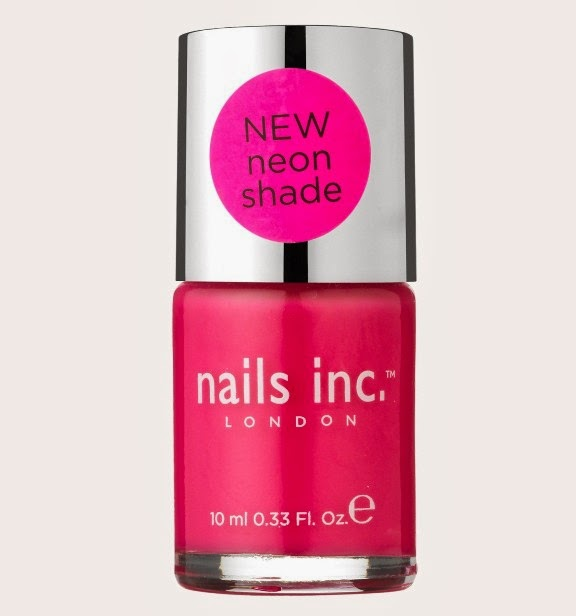 Nails Inc neon pink Notting Hill Gate nail varnish