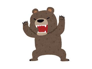 猛るクマさん