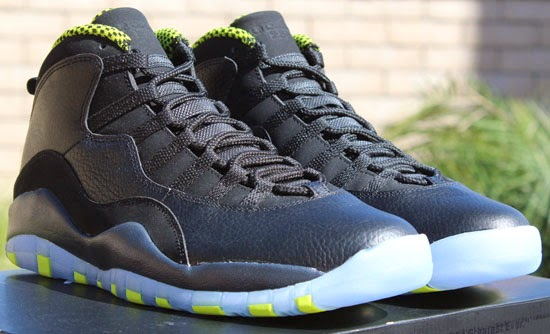 low priced f67c9 517b7 Air Jordan 10 Retro Black Venom Green-Cool Grey-Anthracite Available Early  On eBay