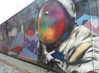 Spaceman es otra muestra de arte urbano en Glasgow.
