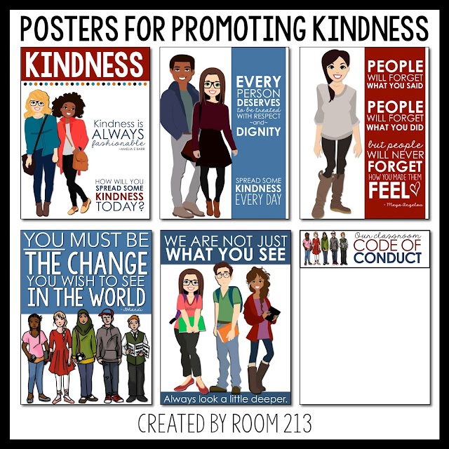 Activities for teaching kindness and acceptance in the secondary classroom.
