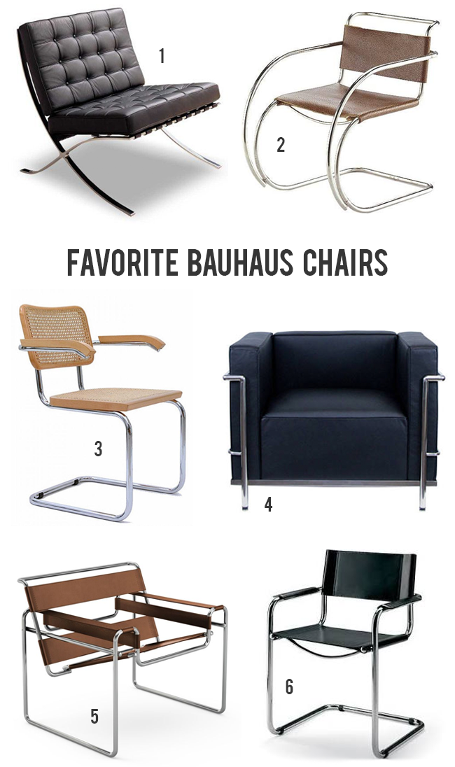 Our Favorite Bauhaus Style Chairs // Bubby and Bean