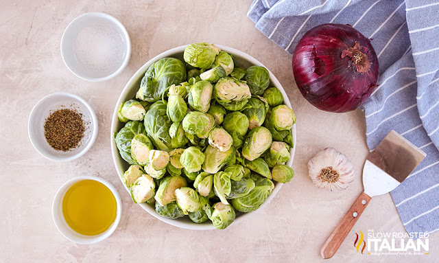 roasted brussel sprouts with garlic ingredients