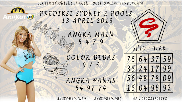 Prediksi Angka Jitu SYDNEY 2 POOLS  13 APRIL 2019
