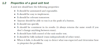 Properties of a good unit test