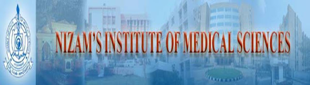 B.Sc Nursing, B.P.T, MHM, Nizam's institute of Medical Sciences