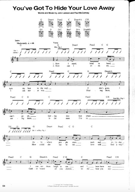 The Beatles - You have Got To Hide Your Love Away partitura