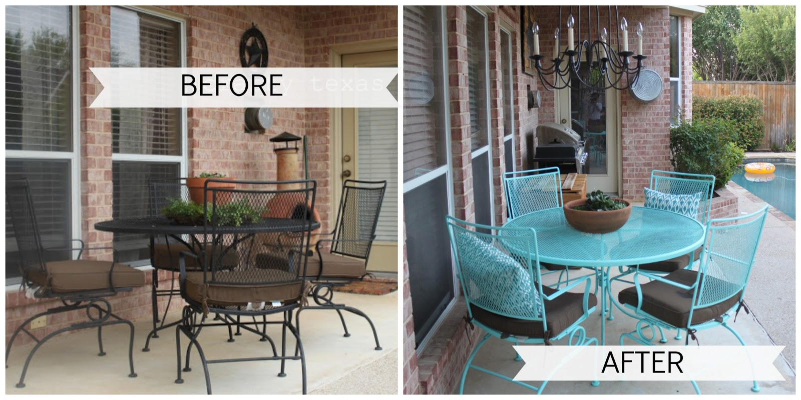 Crafty Texas Girls: Painted Patio Furniture