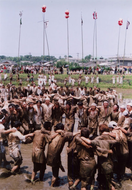 Seppetobe (Dance in Mud Rice Field), Hioki City, Kagoshima Pref.