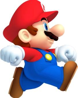 Dibujo de Mario Bros corriendo a colores