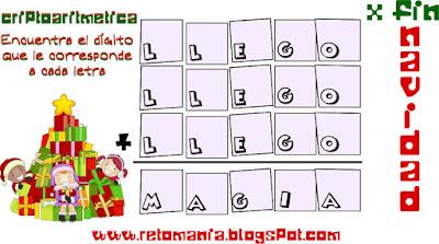 Alfamética, alfametica, criptoaritméticas, criptosumas, Navidad, Santa Clauss, Papá Noel