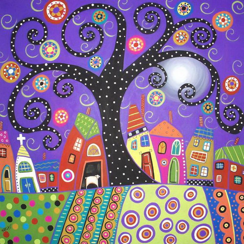 Im genes arte pinturas flores y paisajes naif en el arte for Pintura color albero