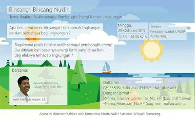 Bincang Bincang Nuklir: Reaktor Nuklir: Pembangkit Energi Ramah Lingkungan