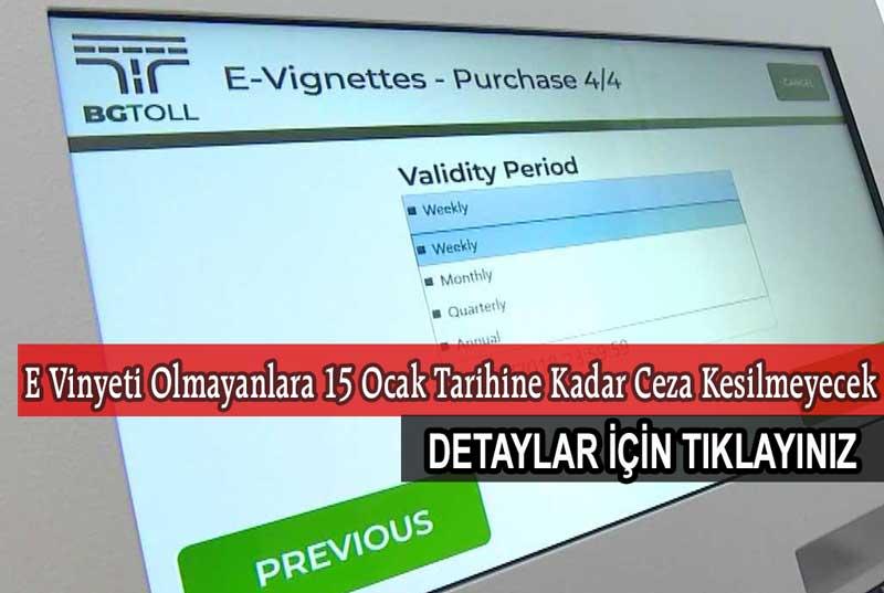 Bulgaristan Elektronik Vinyet Alımı Nasıl Yapılır