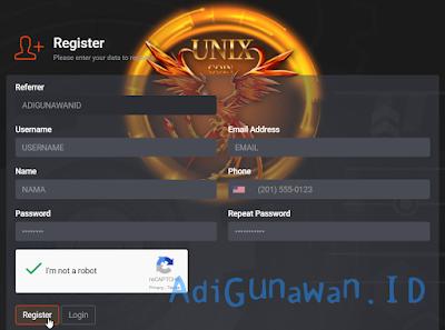 Daftar akun UnixCoin (UNX)