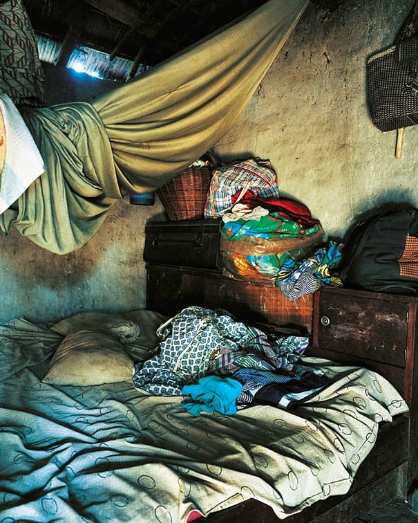 16 Children & Their Bedrooms From Around the World - Anonymous, 9, Ivory Coast - Anonymous' Bed