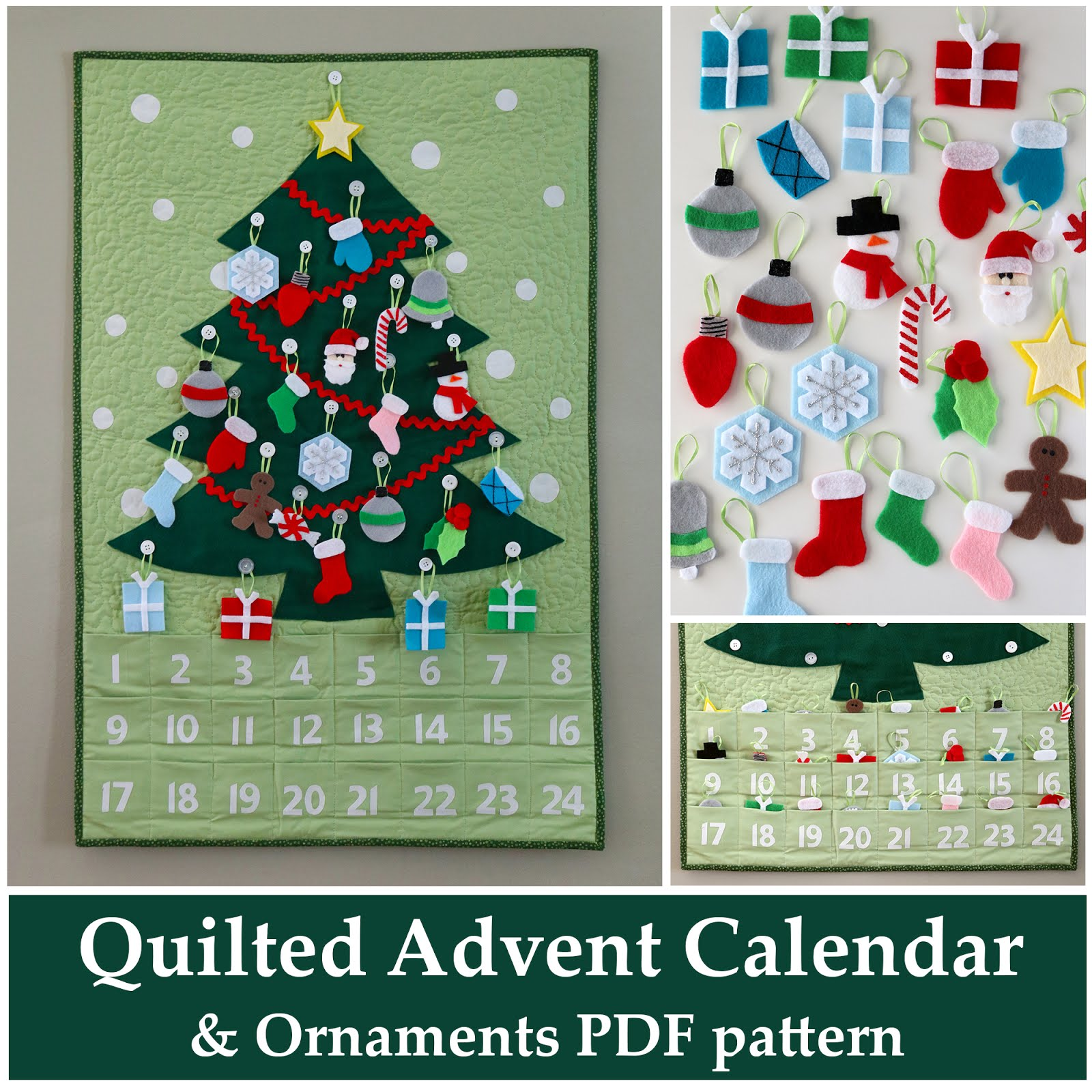 A Bright Corner Quilted Advent Calendar And Ornaments Pattern