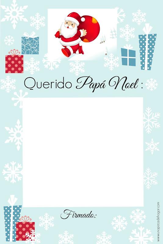 Una Pizca de Hogar: Carta para Papá Noel lista para imprimir