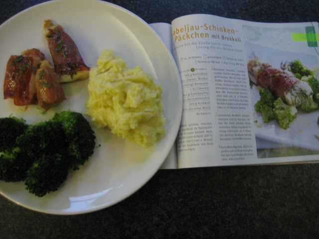 Kabeljau-Schinken-Päckchen mit Brokkoli