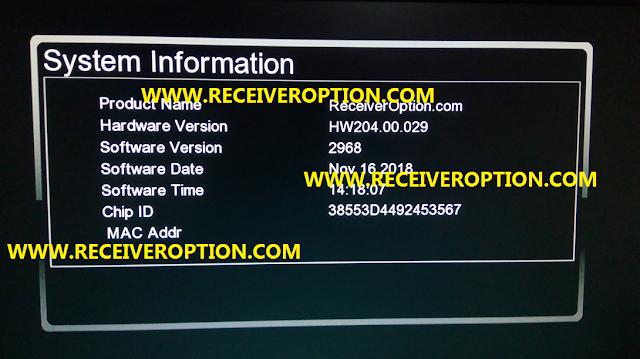 GX6605S HARDWARE VERSION HW204.00.029 POWERVU KEY NEW SOFTWARE