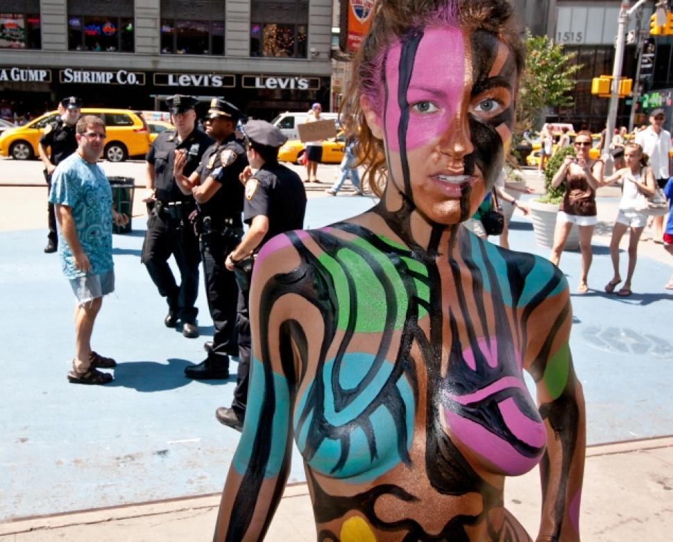Art Video Painted Men New York Times