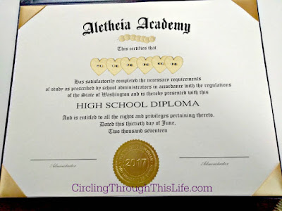 Circling Through This Life Diplomas for your Homeschool Graduate - Diploma Wording