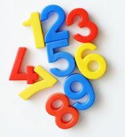 1 ile 9 arası karışık renkli sayılar