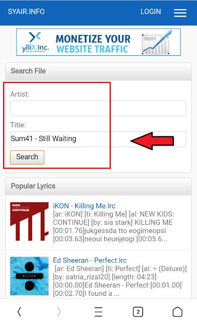 Cara Memunculkan Lirik Lagu Tanpa Aplikasi