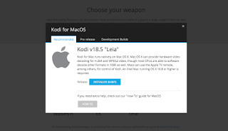 Kodi ダウンロード画面