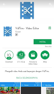 VidTrim tersedia 4 fitur utama. yaitu ada
