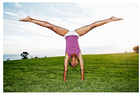 Girl in Inverted Position