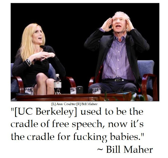 Bill Maher on Free Speech at UC Berkeley for Ann Coulter