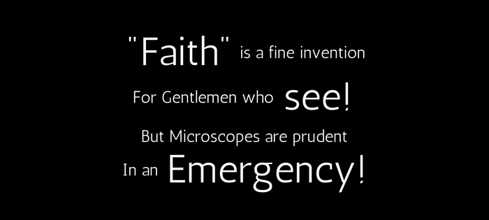 Emily Dickinson's 202 (185) faith is a fine invention (text)