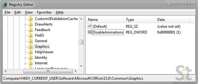 Office 2013 Animation Registry
