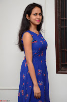 Pallavi Dora Actress in Sleeveless Blue Short dress at Prema Entha Madhuram Priyuraalu Antha Katinam teaser launch 063.jpg