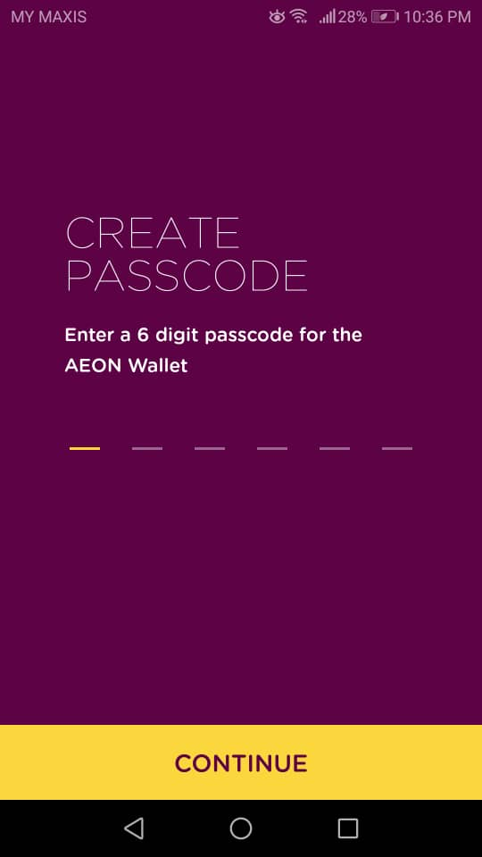 Sign-up: Create Passcode