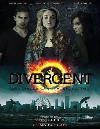 Poster Of Divergent 2014 Dual Audio 475MB BRRip 720p ESubs HEVC Free Download Watch Online Worldfree4u