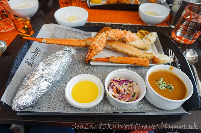 Celebrity Infinity, Speciality meal 餐廳, Qsine, 阿拉斯加蟹餐