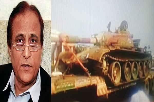 indian-army-send-tank-in-azam-khan-jauhar-university-rampur