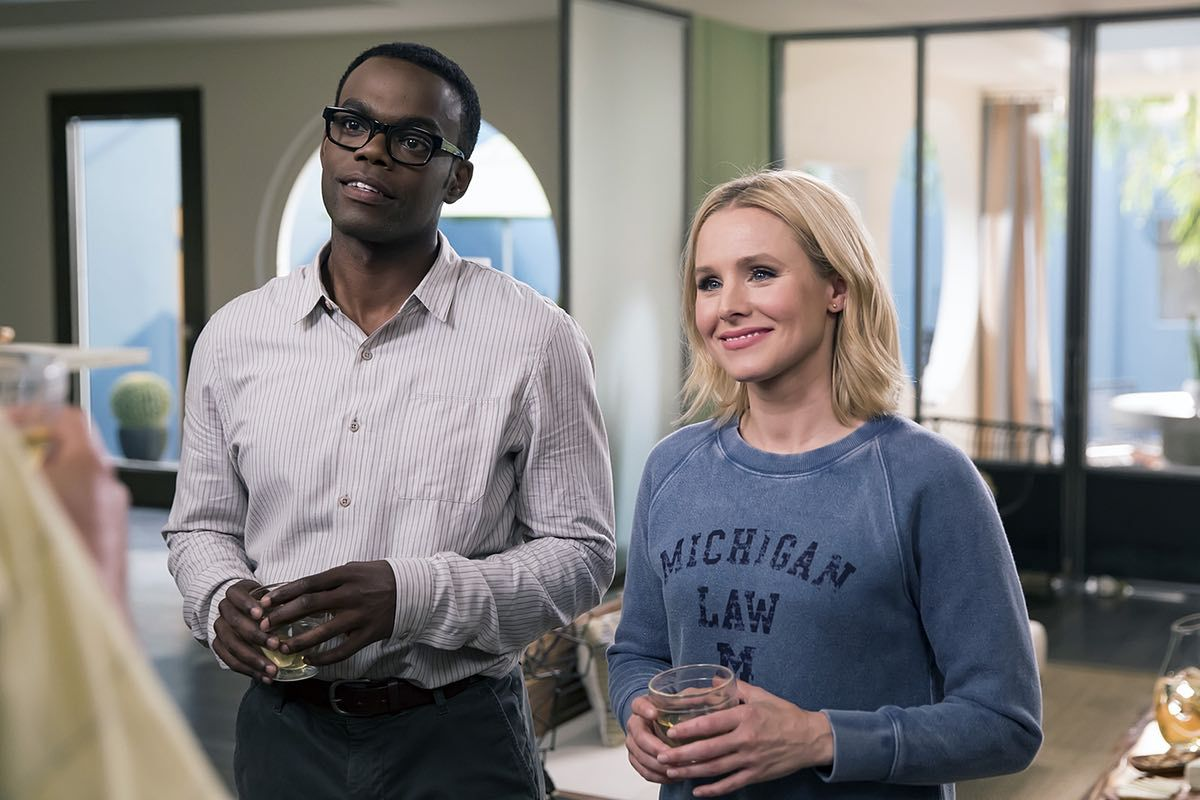 William Jackson Harper y Kristen Bell en 'The Good Place'
