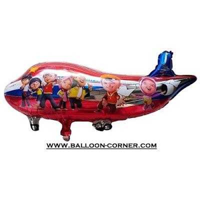 Balon Foil Pesawat Motif BOBOIBOY (Metalik)