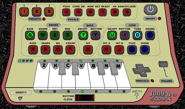 Divertido sintetizador para crear música online