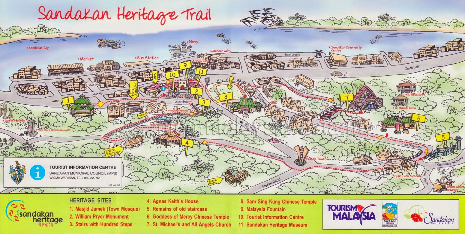 Sandakan Heritage Trail Map