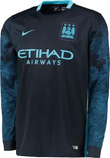 gambar detail jersey musim depan Jersey lengan panjang Manchester City away terbaru musim depan 2015/2016 di enkosa sport