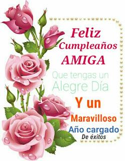 Feliz cumpleaños amiga (imágenes)