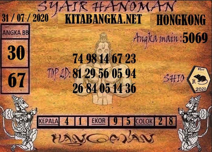 Kode syair Hongkong Jumat 31 Juli 2020 214